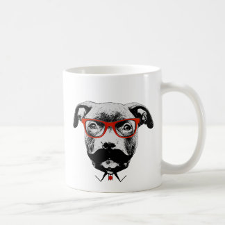 Pitbull Terrier de hippie Mug Blanc