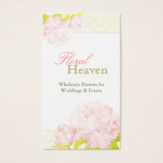 Pivoine + Carte de visite de fleuriste de mariage