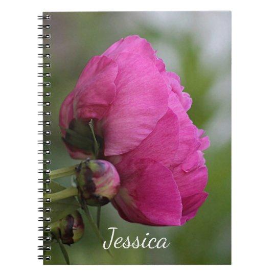 Pivoine rose carnet