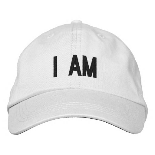 PixDezines do-it-yourself color/i am/embroidered Casquette De Baseball Brodée