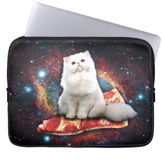 Pizza de chat de l'espace housse ordinateur portable