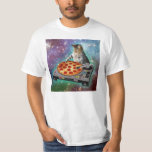 Pizza de DJs de chat de l'espace Tee-shirt