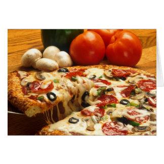 Pizza obtenue ? carte de voeux