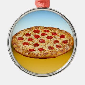 Pizza solitaire - produits multi ornement rond argenté