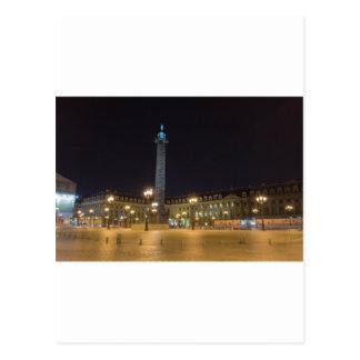 Place de la Concorde à Paris la nuit Carte Postale