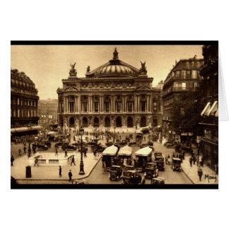 Placez de l'Opera, cru de Paris France c1925 Carte