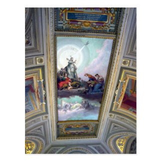 Plafond de musée de Vatican carte postale à Rome,