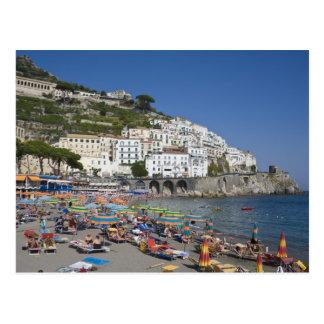 Plage à Amalfi, Campanie, Italie Carte Postale