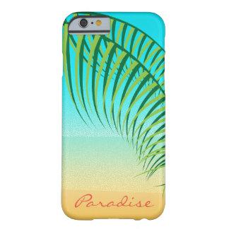 Plage abandonnée par palmettes tropicales coque barely there iPhone 6