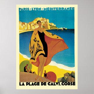 Plage De Calvi Corse de La de la Côte d'Azur