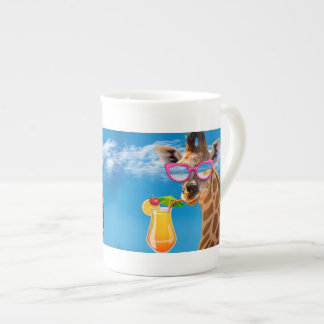 Plage de girafe - girafe drôle mug