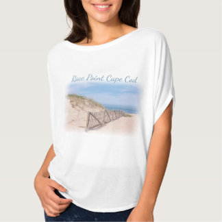 Plage de point de course sur Cape Cod T-shirt