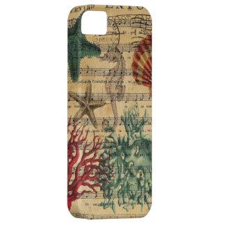 plage girly vintage de coquillages d'océan coque Case-Mate iPhone 5
