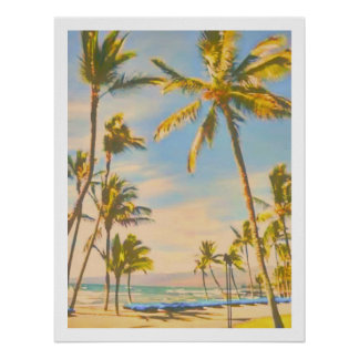 Plage hawaïenne vintage de PixDezines