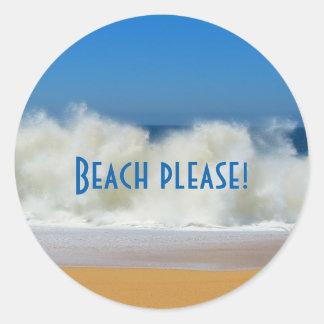 Plage svp ! Autocollants de scène de plage