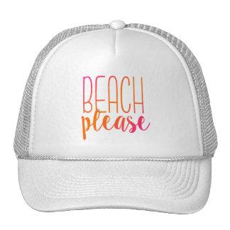 Plage svp chapeau rose et orange de | d'Ombre de Casquette De Camionneur