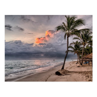 Plage tropicale dans les Caraïbe Carte Postale