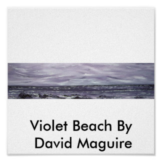 Plage violette par David Maguire
