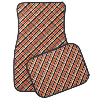 Plaid blanc noir orange de fan de sports de tapis de voiture