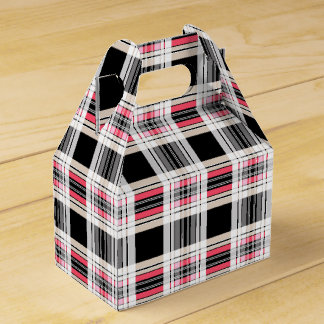 Plaid blanc noir rouge ballotins