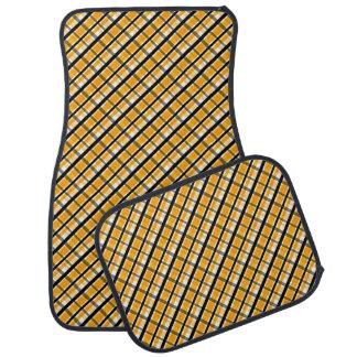 Plaid de noir d'or jaune de fan de sports de tapis de sol