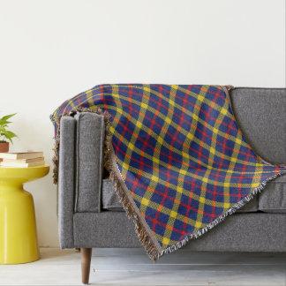 Plaid de tartan classique élégant modelé couvre pied de lit
