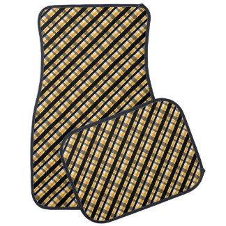 Plaid d'or jaune de noir de fan de sports de tapis de sol
