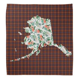 Plaid et bandana floral d'état de l'Alaska
