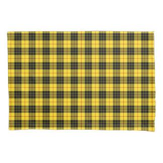 Plaid jaune et noir d'écossais de clan de MacLeod Housse D'oreillers