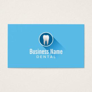 Plaine bleue d'icône de dent simple de soins cartes de visite