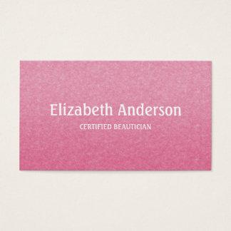 Plaine et esthéticien certifié par rose chic cartes de visite