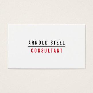 Plaine noire et blanche moderne simple cartes de visite