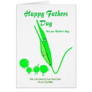 Plaisanterie de pois de carte de fête des pères