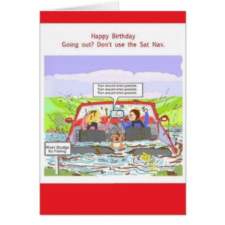 Plaisanterie de SAT Nav de carte d'anniversaire