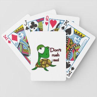 Plaisanterie de tortue cartes à jouer