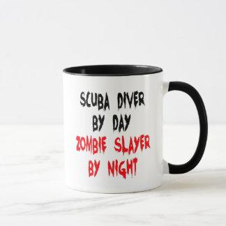 Plaisanterie de zombi de plongeur autonome mug