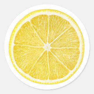 Plak van citroen ronde sticker