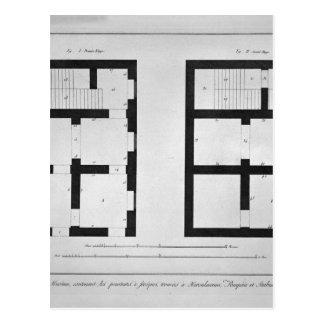 Plan du premier et deuxième étage de ce musée carte postale
