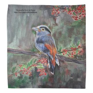 Plan rapproché d'oiseau sur l'acrylique sauvage bandana