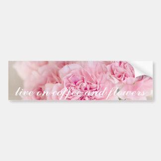 Plan rapproché rose de pétales de fleur de fleur autocollant de voiture