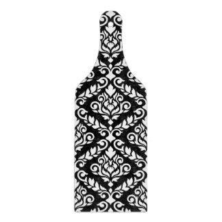 Planche À Découper Blanc de motif de damassé de Prima sur le noir