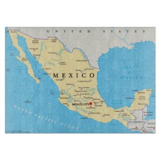 Planche À Découper Carte politique du Mexique