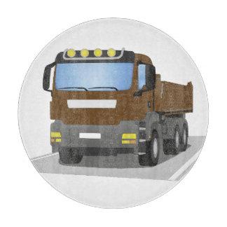Planche À Découper chantiers camion bruns