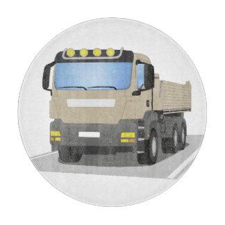 Planche À Découper chantiers camion gris