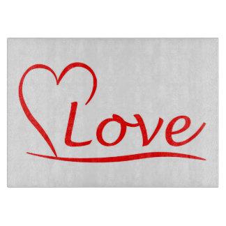 Planche À Découper Coeur avec des amours