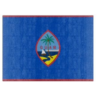 Planche À Découper Conseil de taille du verre avec le drapeau de la