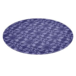 Planche À Découper Conseil floral bleu de taille du verre de motif de