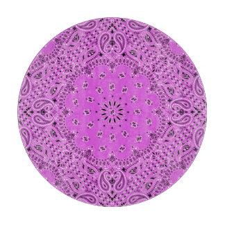 Planche À Découper Disque en verre d'art de tissu d'écharpe de