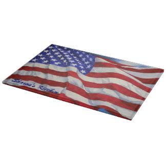Planche À Découper Drapeau américain -