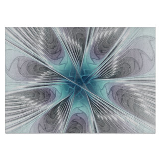 Planche À Découper Élégance de Flourish, art moderne de fractale